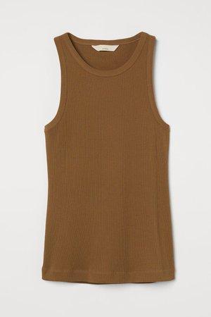 Silk-blend Tank Top - Brown - Ladies | H&M US