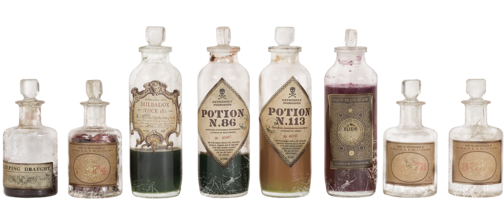 Eight Magical Potions and Bottles | Harry Potter & Hogwarts: Prints Pictures & Posters| Collectibles