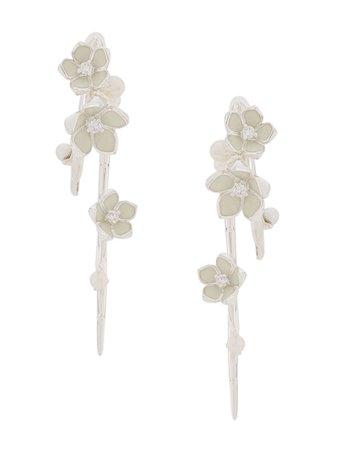 Shaun Leane Cherry Blossom hook earrings - FARFETCH