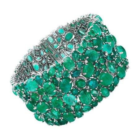 Ruchi New York Emerald and Diamond Bracelet For Sale at 1stDibs