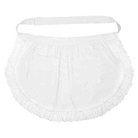 Amazon.com: BESTONZON Women's Waist Apron with Pockets Lace Cotton Half Apron Kitchen Party Favors for Maid Waitress Servant(White): Kitchen & Dining