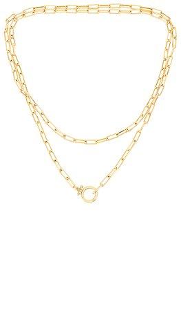 gorjana Parker Wrap Necklace in Gold   REVOLVE