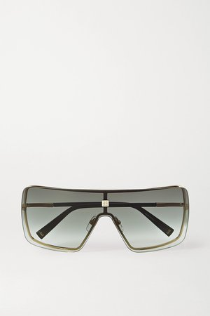 Gray Oversized D-frame gold-tone and acetate sunglasses | Givenchy | NET-A-PORTER