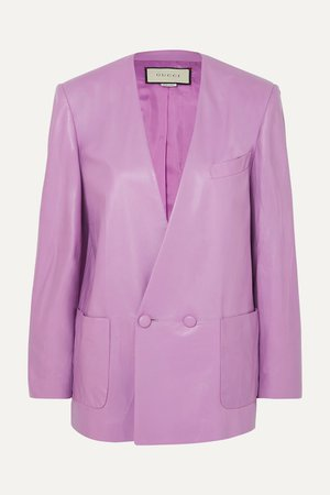 Lilac Leather blazer | Gucci | NET-A-PORTER