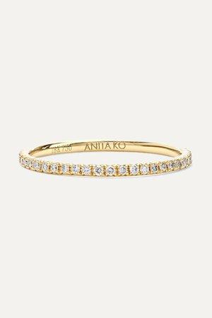 Gold 18-karat gold diamond ring | Anita Ko | NET-A-PORTER