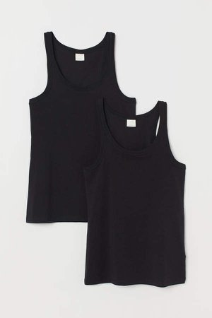 2-pack Tank Tops - Black