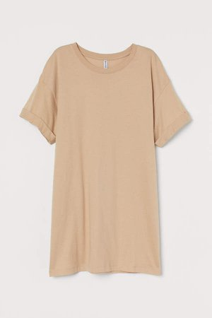 Long T-shirt - Beige