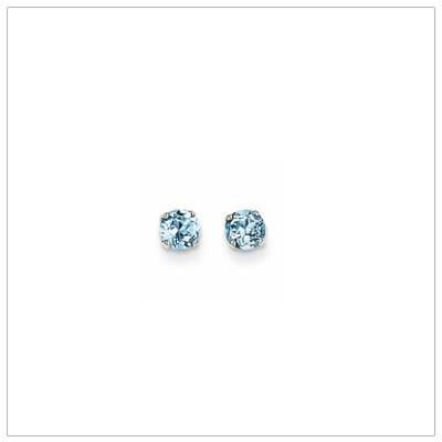 White Gold December Birthstone Earrings