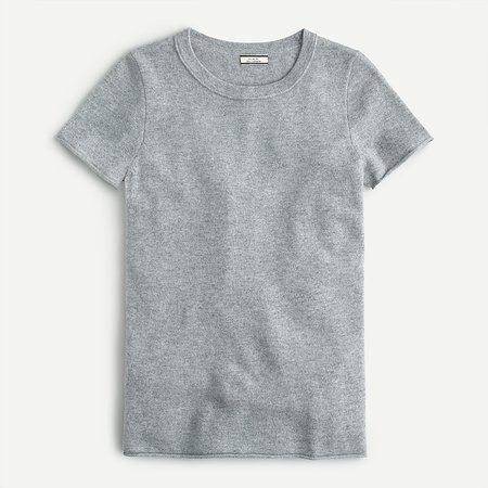 J.Crew: Short-sleeve Cashmere T-shirt For Women