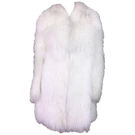 Dolce and Gabbana White Lamb Fox and Eel Fur Coat, F / W 2005 For Sale at 1stdibs
