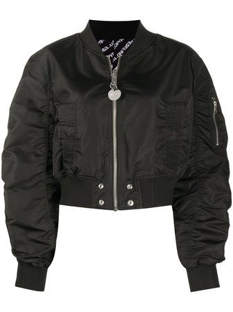 Diesel Reversible Ruched Cropped Bomber Jacket Aw20 | Farfetch.Com