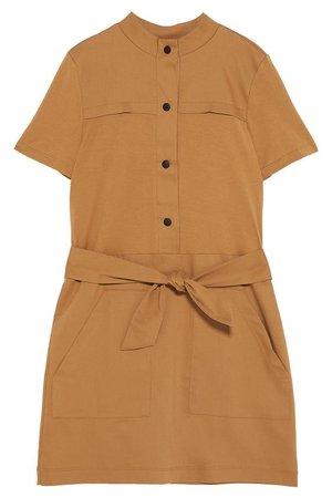 Zara Brown Belt Dress