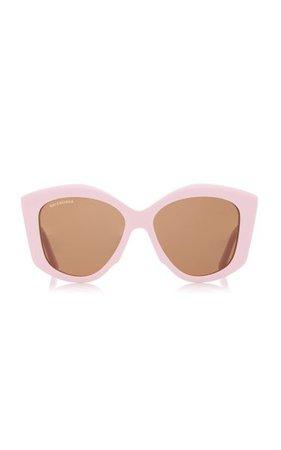 Oversized Round-Frame Acetate Sunglasses By Balenciaga | Moda Operandi