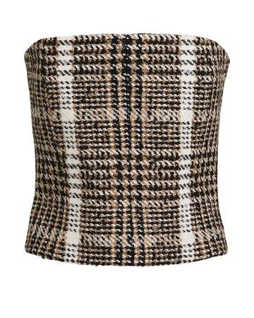 Wool Bouclé Bustier Top