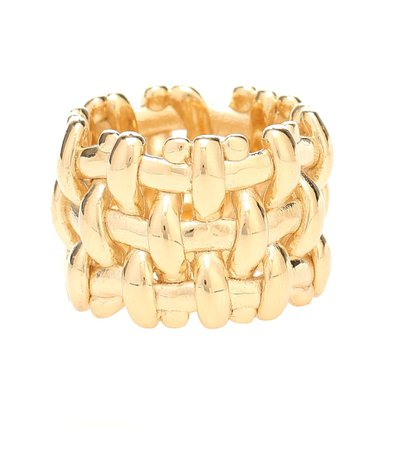 Bottega Veneta - 18kt gold-plated ring | Mytheresa