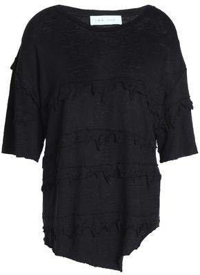 Distressed Slub Linen-jersey T-shirt