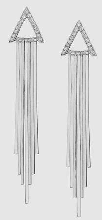 Silver Triangle Dangle Earring