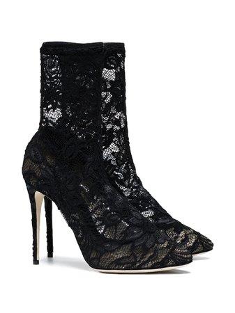 Dolce & Gabbana 105 Lace Ankle Boots | Farfetch.com