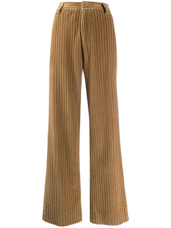 Shop AMI Paris wide leg corduroy trousers with Express Delivery - Farfetch
