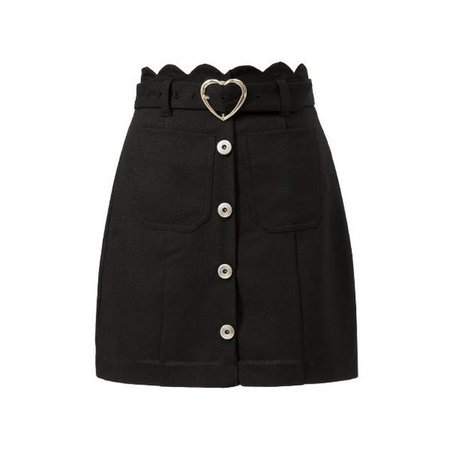 Black Skirt With Heart Belt