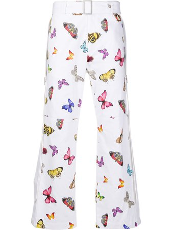 Palm Angels Butterfly Print Straight Trousers - Farfetch