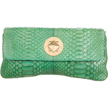 Green Snakeskin Purse