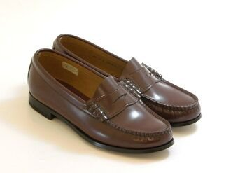REGAL classic coin loafers (with: 3E) (Brown) women's shoes