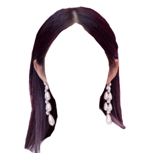 Dark Brown Hair PNG Earrings