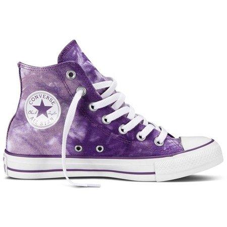 Purple Watercolor High-Top Converse