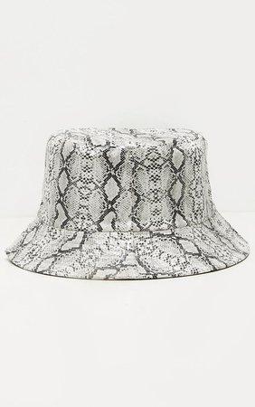 Grey Snake Bucket Hat   Accessories   PrettyLittleThing