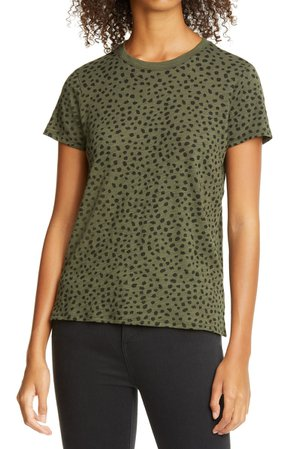 ATM Anthony Thomas Melillo Schoolboy Cheetah Print Slub Cotton Tee | Nordstrom
