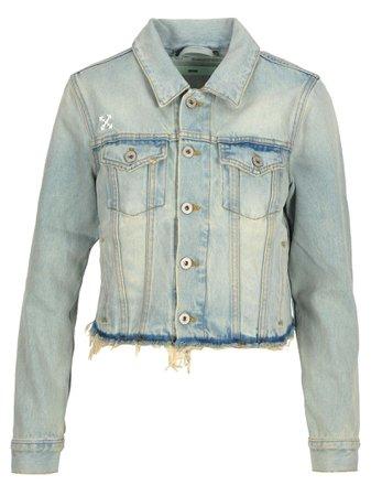 Off White Off-white, Denim Frayed Jacket