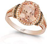 Amazon.com: EFFY 14K ROSE GOLD DIAMOND, BROWN DIAMOND, MORGANITE RING: Jewelry