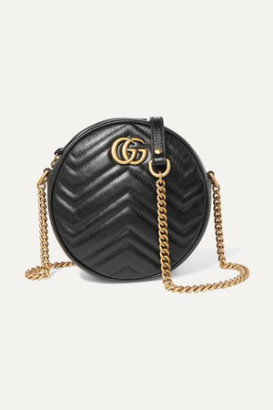 Gucci | GG Marmont Circle quilted leather shoulder bag | NET-A-PORTER.COM