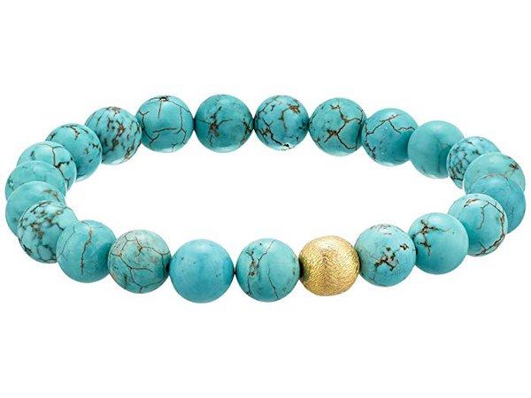 Dee Berkley Stabilized Turquoise Gemstone Beaded Bracelet