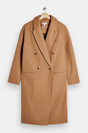 Camel Classic Double Breasted Coat | Topshop
