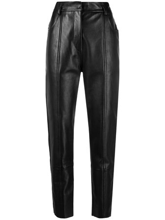 Petar Petrov high-waisted faux-leather trousers