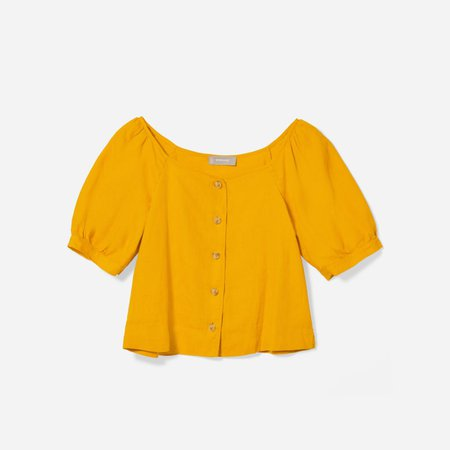 Women's Linen Puff-Sleeve Top | Everlane yellow