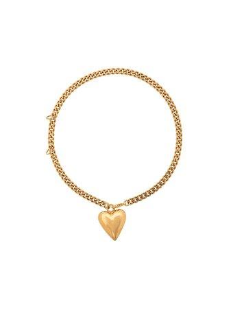Gold Versace Heart Motif Bracelet | Farfetch.com