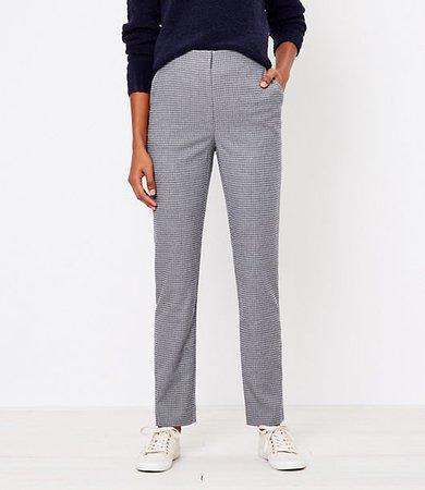 Petite High Waist Slim Pants in Check