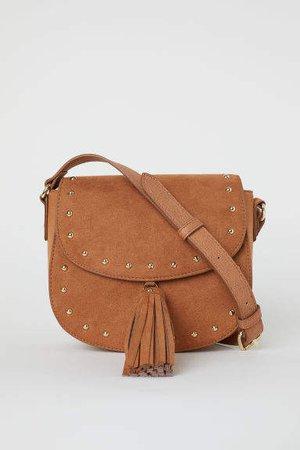 Small Shoulder Bag with Tassel - Beige
