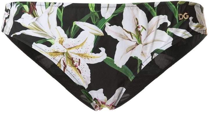 lily print bikini bottoms