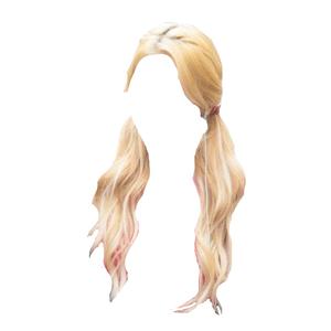 blonde hair pigtails png