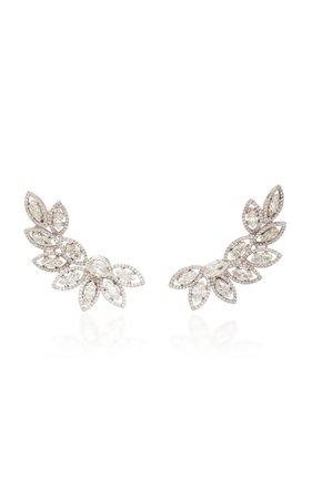 Busatti Japan 18K White Gold And Diamond Ear Cuff