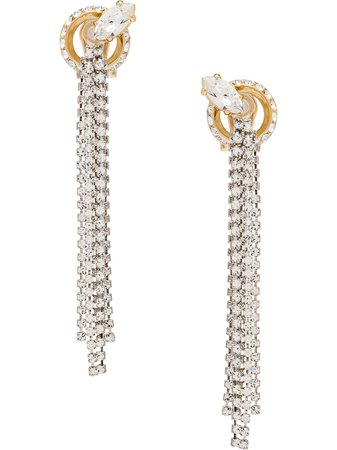 Miu Miu Crystal Detailed Earrings - Farfetch