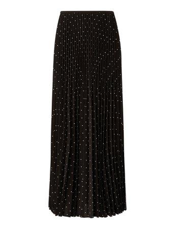 Sorence-Silk Polkadot Skirts in Black/Ivory | JOSEPH