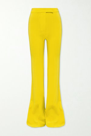 Yellow Rene crepe flared pants | Alex Perry | NET-A-PORTER