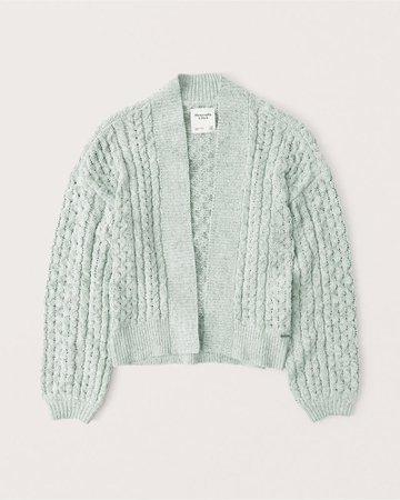 Women's Open-Front Cable Cardigan | Women's | Abercrombie.com
