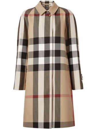 Burberry Твиловое Пальто в Клетку - Farfetch