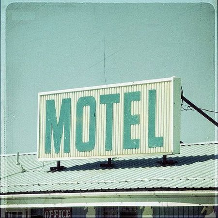 green motel aesthetic